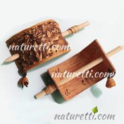 Haarschmuck aus erlesener sibirischen Birkenrinde