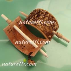 Haarspangen mit Holzstab SCHAMAN in authentic style