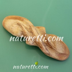 Haarspange aus Maulbeerholz handgeschnitzt