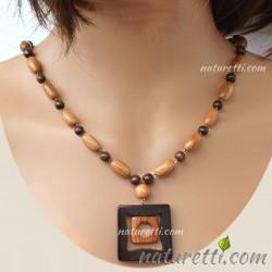 Holzschmuck Damen Halskette...