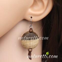 Ohrringe aus Holz mit natürlichem Farbverlauf