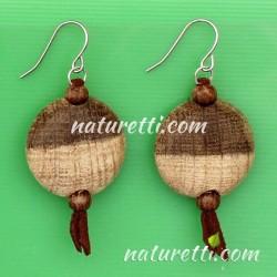 Modeschmuck Ohrhänger aus Holz