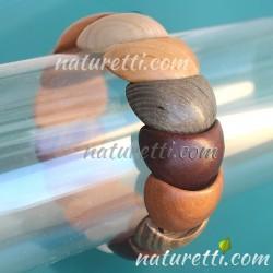 Armband aus Holz bunt elastisch