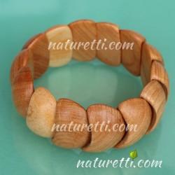 Modeschmuck Armband aus  Maserholz