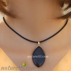 Damen Halskette aus Ebenholz