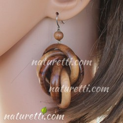 Ohrringe aus Holz extra lang