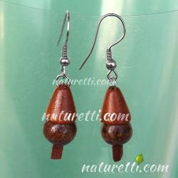 Ohrhänger GLÖCKCHEN aus Holz und Leder