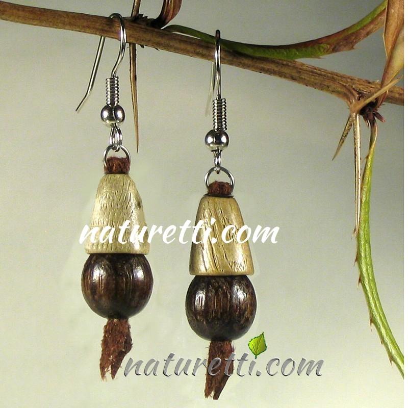 Damen Ohrschmuck, Ohrhänger aus Holz, Holzschmuck