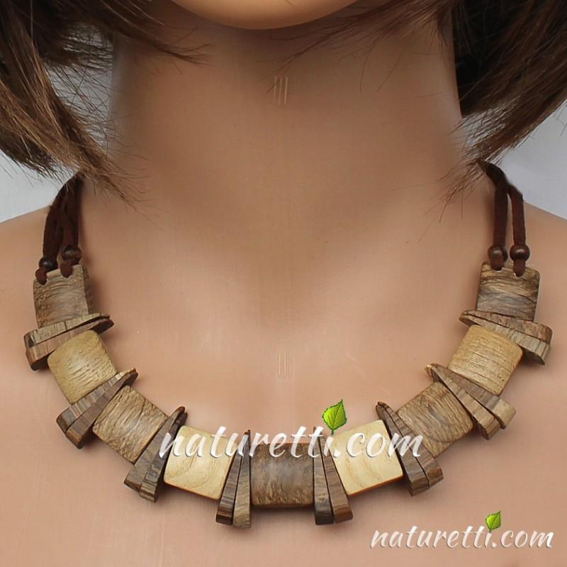 Holzschmuck, Damen Halskette aus Holz, Collier