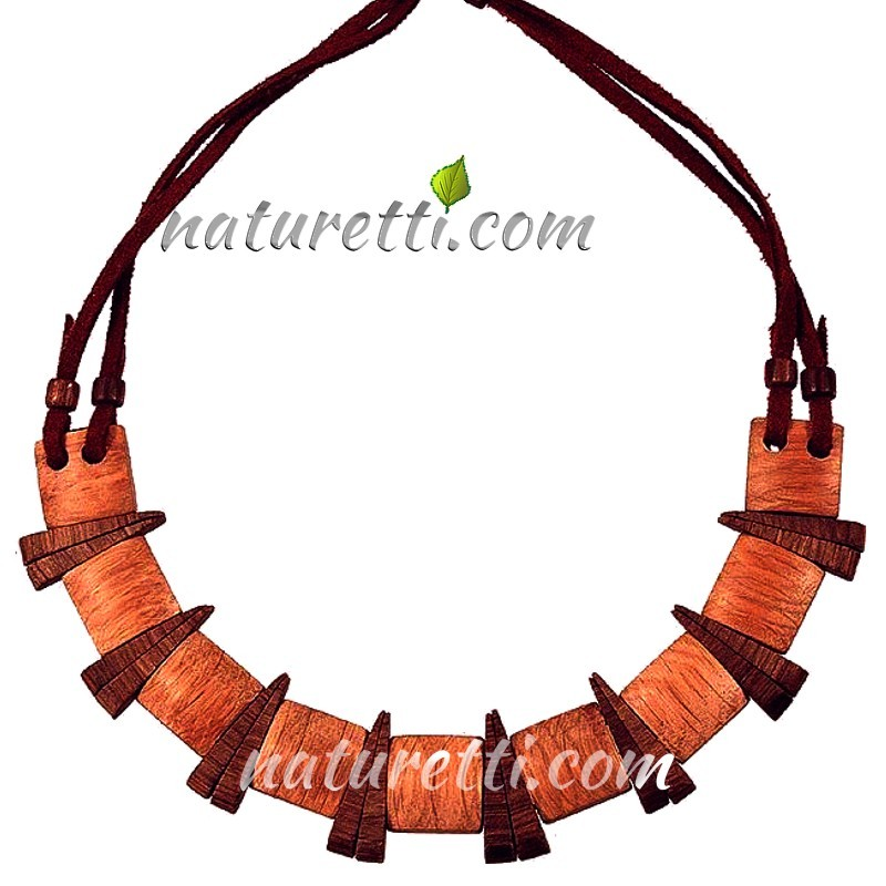 Holzschmuck, Damen Halskette aus Holz