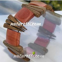 Eleganter Armschmuck aus Holz elastisch
