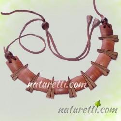 Damenschmuck Halskette aus Holz