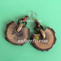 Ohrringe aus Holz Astscheiben