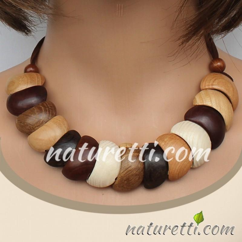 Holzschmuck Collier Halskette