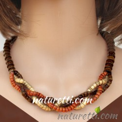 Collier Halskette WOODBRAID...