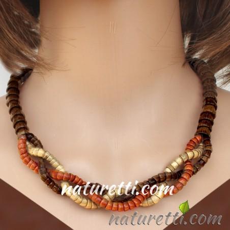 Damen Halskette aus Holz