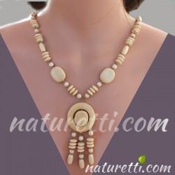 Lange Halskette aus Holz...