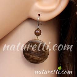 Holzschmuck Ohrringe dunkel