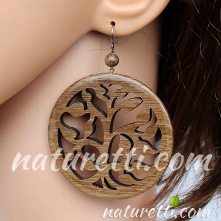 Ohrhänger aus Holz Lebensbaum