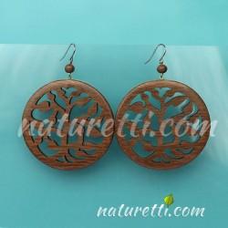 Ohrhänger aus Holz Baum des Lebens
