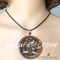 Halskette aus Holz Tree of Life
