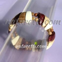 Holzschmuck, Armband aus verschiedenen Holzarten
