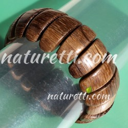 Holzschmuck Armband naturbraun
