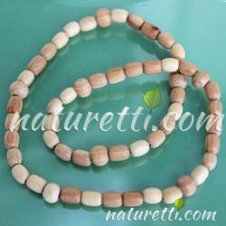Holzschmuck, Gummi Holz Halskette für Sie und Ihn