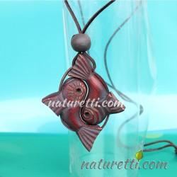 Amulett Yin-Yang aus sibirischem Zedernholz
