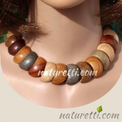 Designer Holzschmuck Damen Halskette