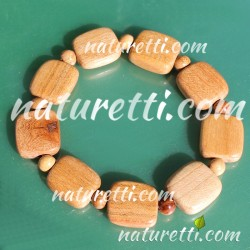 Holzschmuck, Schmales Armband aus hellem Eichenholz