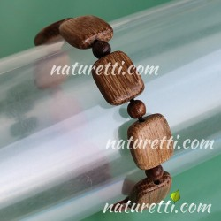 Holzschmuck Unisex Armband Farbe dunkelbraun