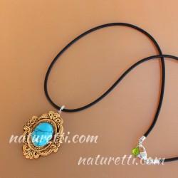 Amulett mit Türkis Heilstein