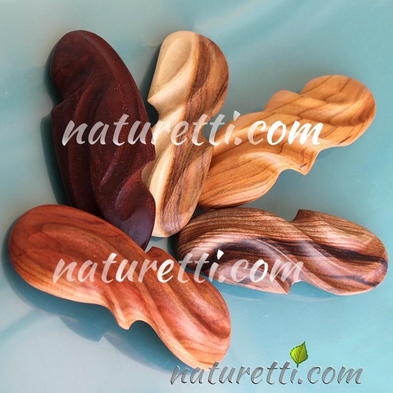 Holz Haarspangen handgeschnitzt