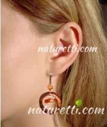 Holz Ohrhänger, Ohrringe aus Holz, Holzschmuck