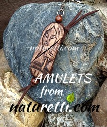 Amulette und Talismane aus Holz. Authentischer Schutz-, Kraft- und Glücksbringer - Schmuck aus Holz.